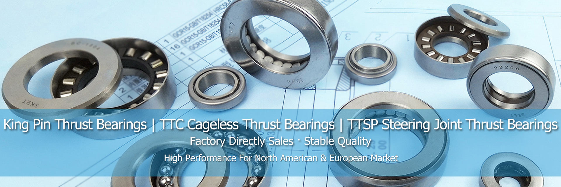 Clutch/Kingpin Thrust Bearings,TTC Cageless/TTSP Steering Joint Thrust Bearings